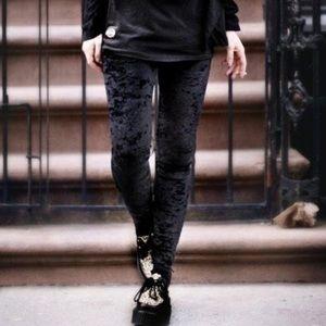 Pants - Velvet Elastic Waist leggings